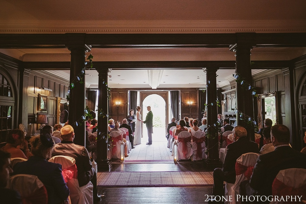 Wedding ceremony in Northumberland.  Slaley Hall wedding photography by wedding photographers 2tone Photography.  www.2tonephotography.co.uk