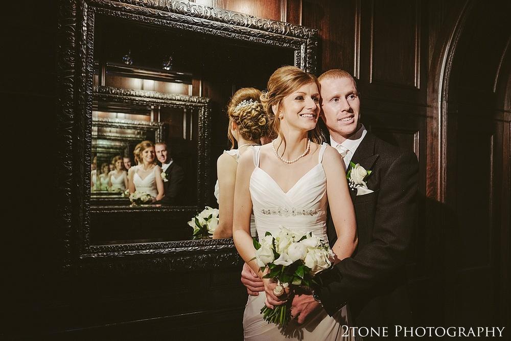 Creative wedding photos.  Slaley Hall wedding photography by wedding photographers 2tone Photography.  www.2tonephotography.co.uk