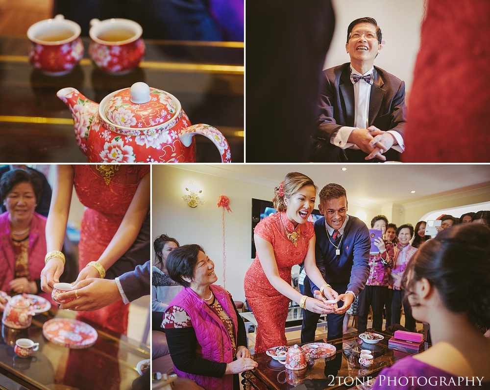 Chinese tea ceremony by Durham based wedding photographers 2tone Photography www.2tonephotography.co.uk