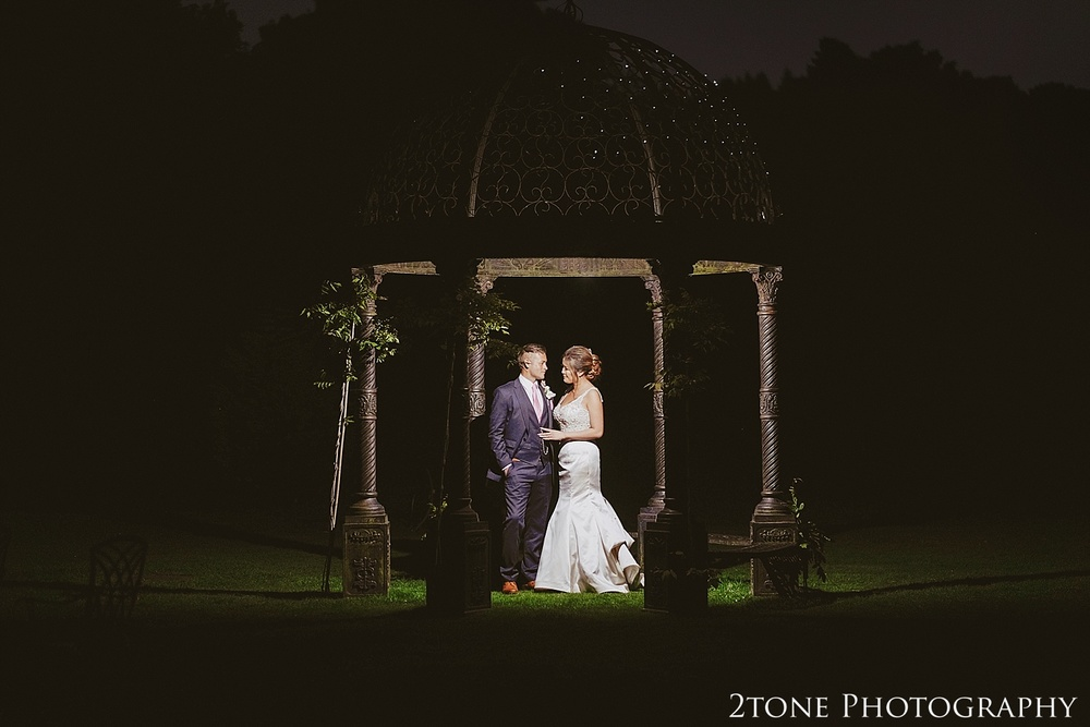 Night time wedding photography at Beamish Hall  by durham based husband and wife wedding photography duo 2tone Photography www.2tonephotography.co.uk