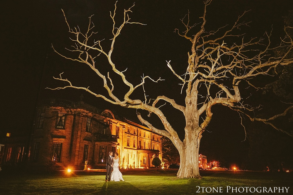 Night photography at Beamish Hall  by durham based husband and wife wedding photography duo 2tone Photography www.2tonephotography.co.uk