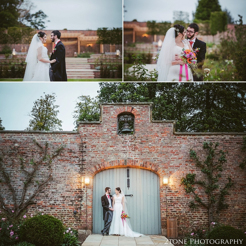 The walled garden.  Weddings at Wynyard Hall by Durham wedding photographers www.2tonephotography.co.uk