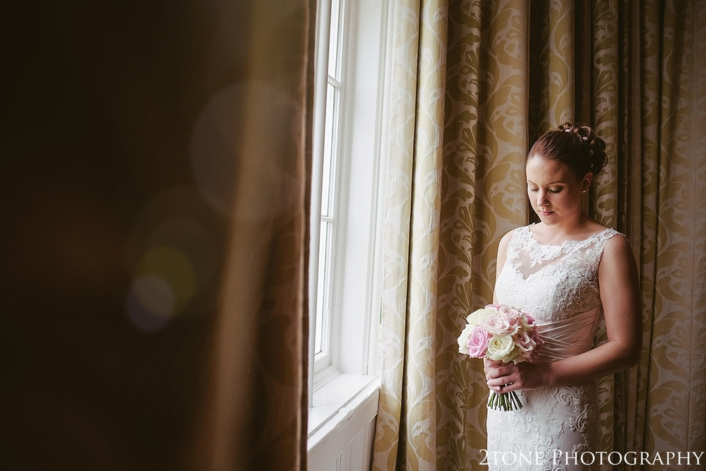 The bride.  Matfen Hall by Durham based wedding photographers 2tone Photography