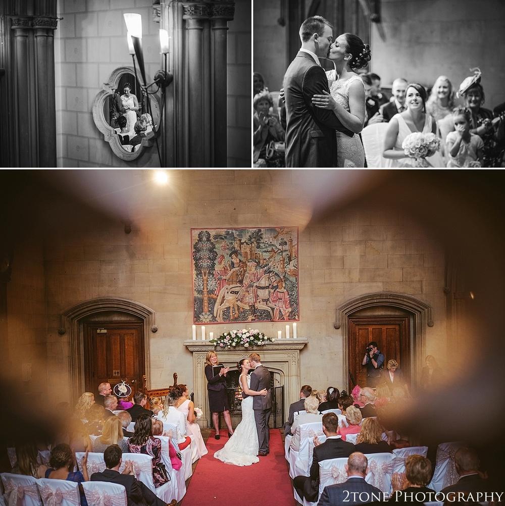 Wedding Ceremony.  Matfen Hall by Durham based wedding photographers 2tone Photography