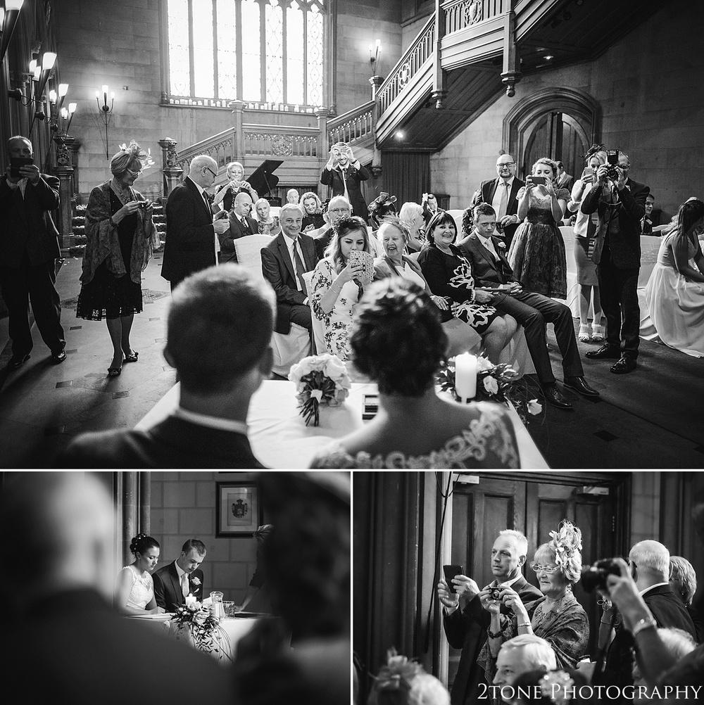 Natural wedding photographs at Matfen Hall.  Matfen Hall by Durham based wedding photographers 2tone Photography