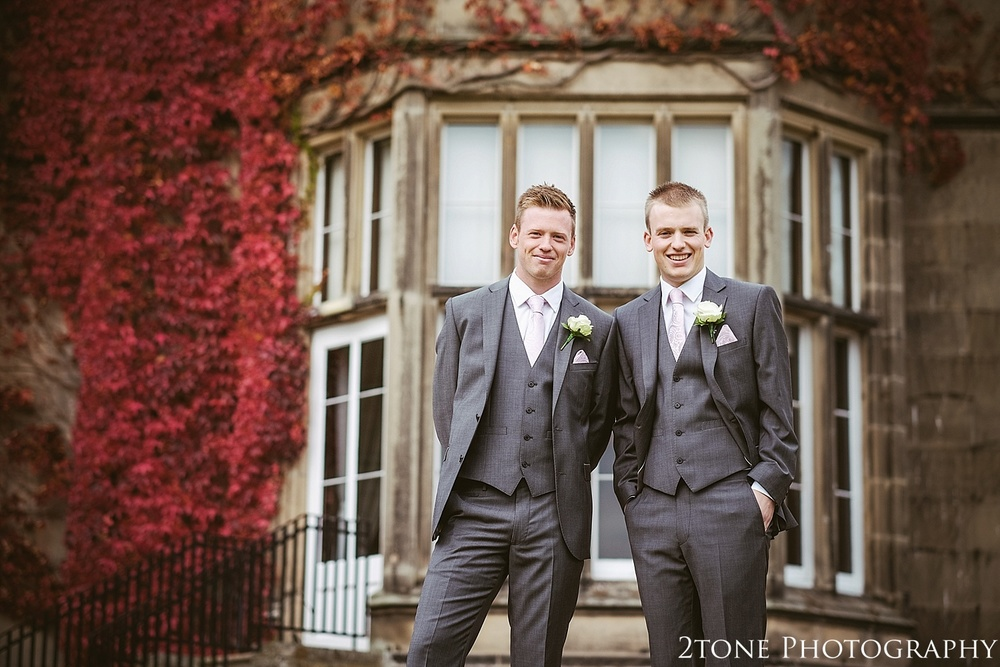 The groom and best man.  Matfen Hall by Durham based wedding photographers 2tone Photography www.2tonephotography.co.uk