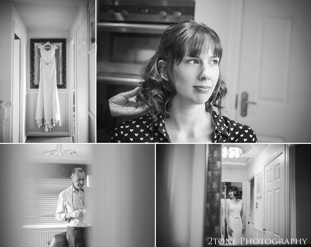 The bride getting ready.  Wedding Photography at Horton Grange by wedding photographers in Durham www.2tonephotography.co.uk