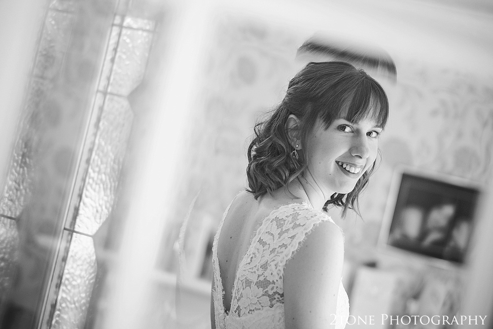 The bride.  Wedding Photography at Horton Grange by wedding photographers in Durham www.2tonephotography.co.uk