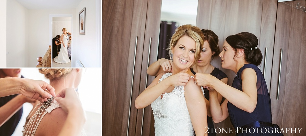 The bride getting ready.  Wedding photography at the Roker Hotel in Sunderland by www.2tonephotography.co.uk