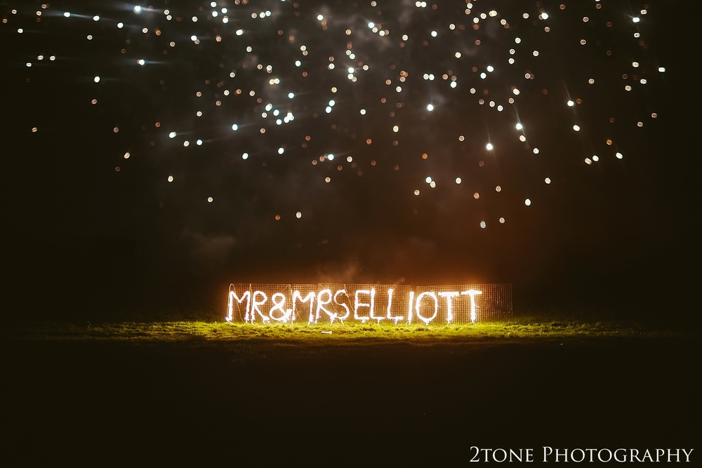 Fireworks. Wedding photography at Lumley Castle by Durham photographer 2tone photography www.2tonephotography.co.uk