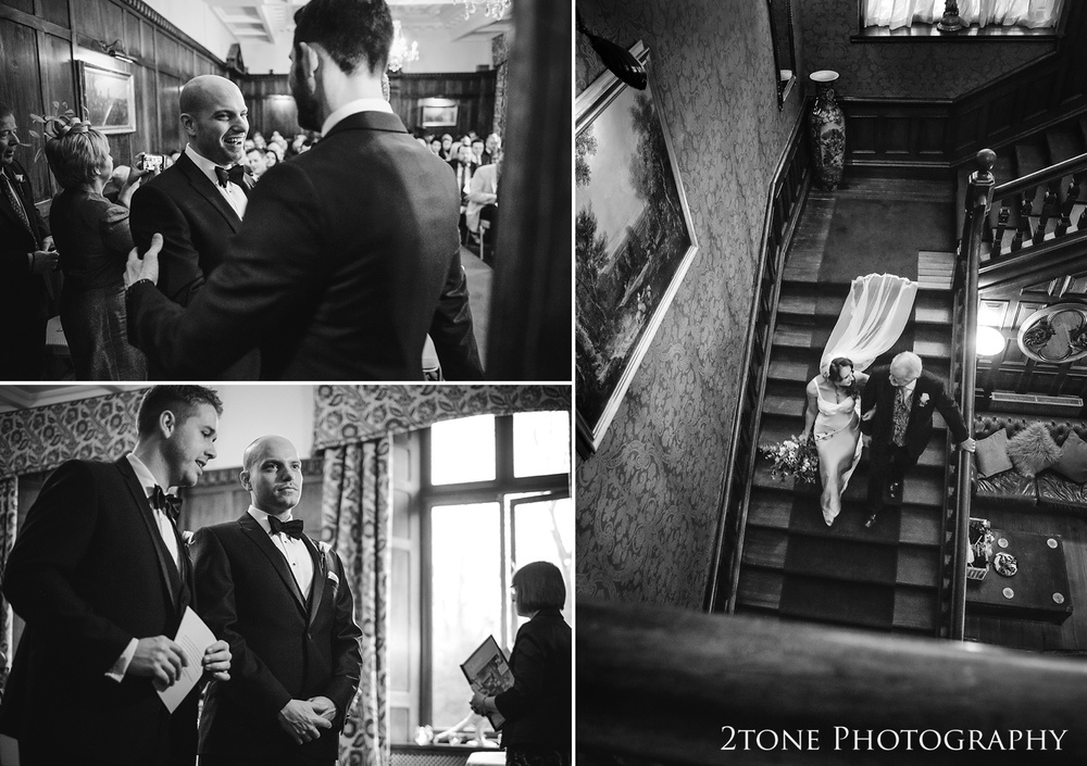 A wedding at Ellingham Hall. Winter wedding photography by www.2tonephotography.co.uk