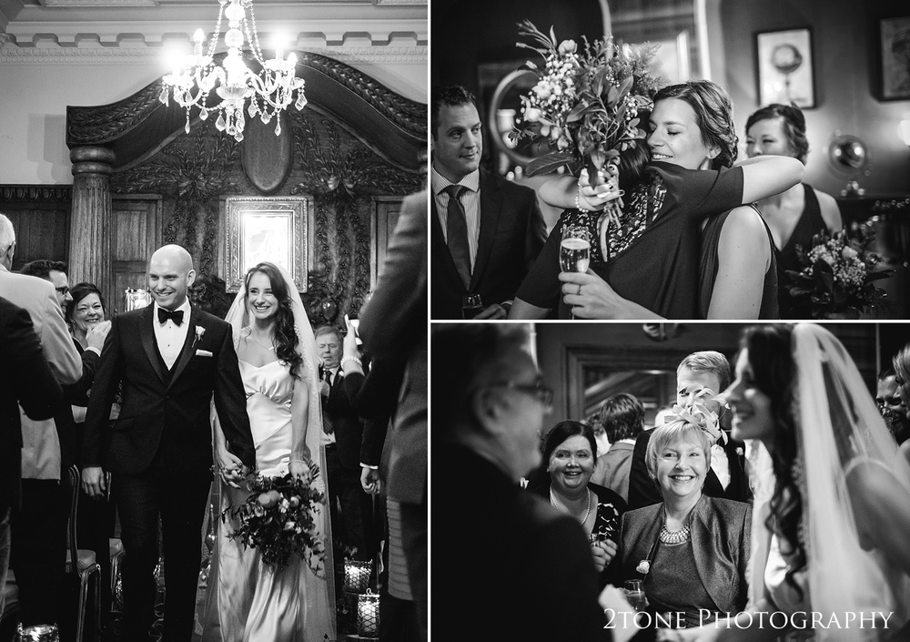 Wedding ceremonies at Ellingham Hall. Winter wedding photography by www.2tonephotography.co.uk