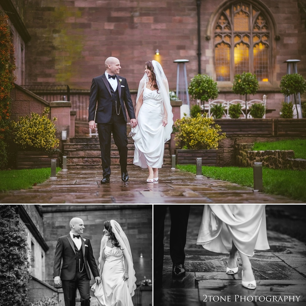 Wet weather weddings at at Ellingham Hall. Winter wedding photography by www.2tonephotography.co.uk
