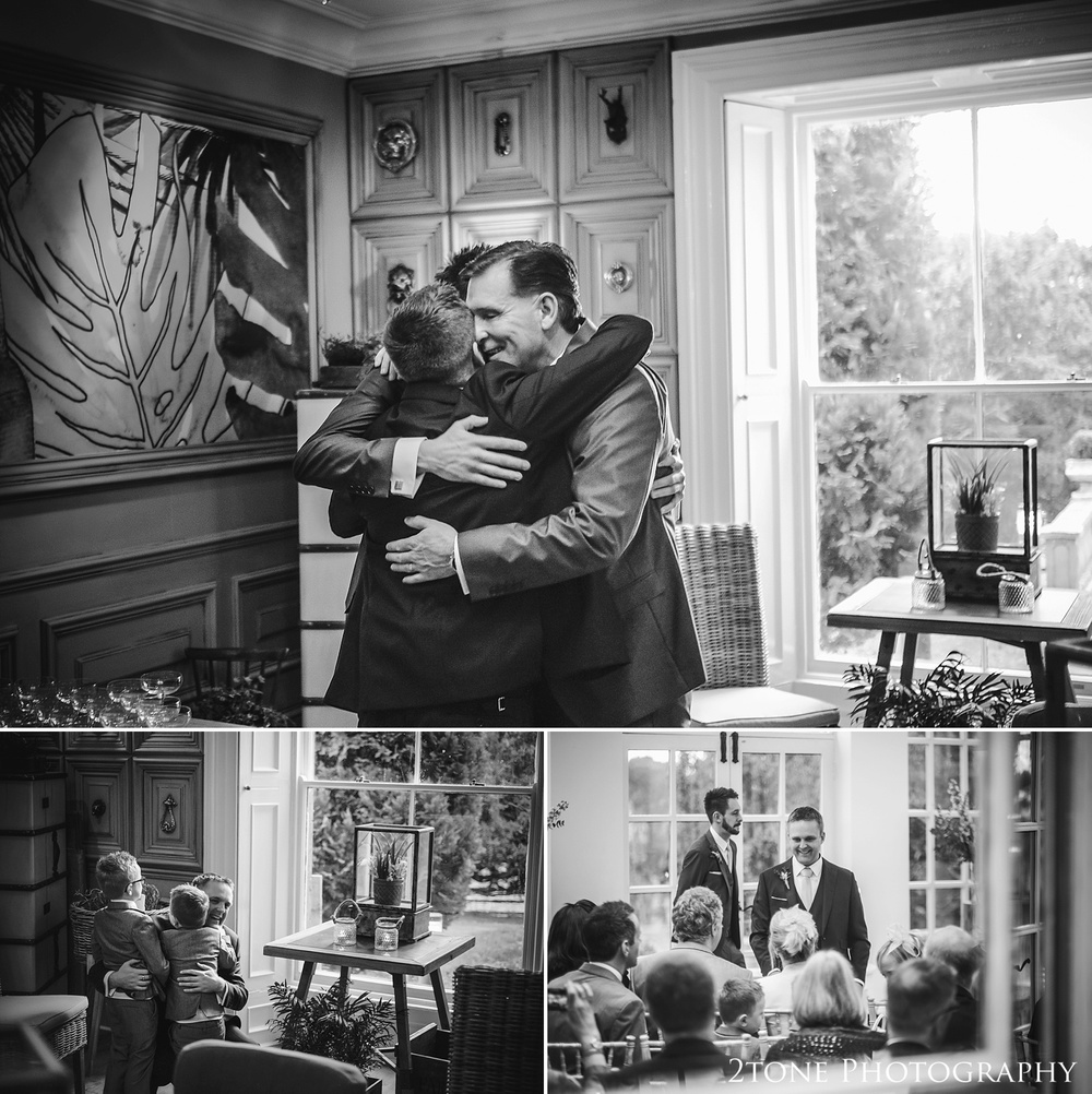 The groom and the guests at Woodhill Hall.  Wedding photography in Northumberland by www.2tonephotography.co.uk