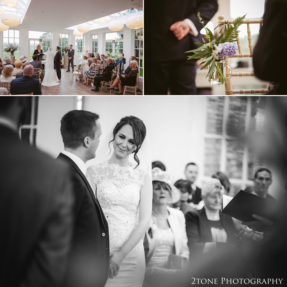 A wedding ceremony at Woodhill Hall.  Wedding photography in Northumberland by www.2tonephotography.co.uk