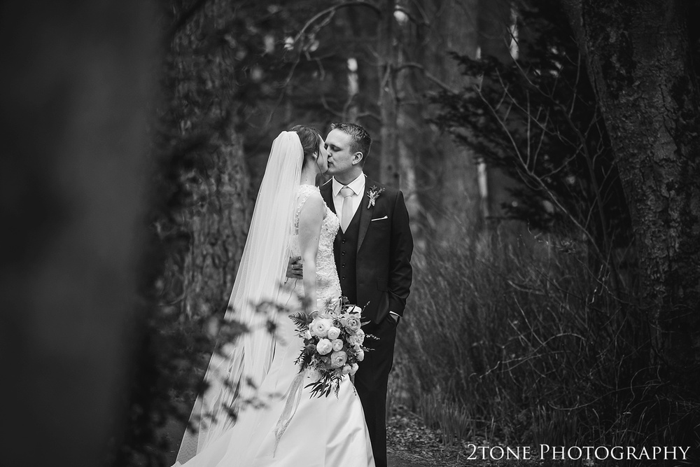 Woodland wedding photographs at Woodhill Hall.  Wedding photography in Northumberland by www.2tonephotography.co.uk