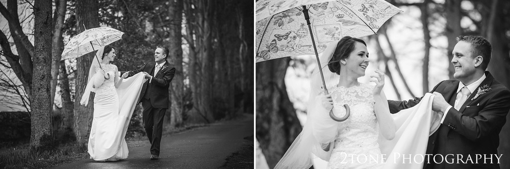 Rainy day wedding at Woodhill Hall.  Wedding photography in Northumberland by www.2tonephotography.co.uk