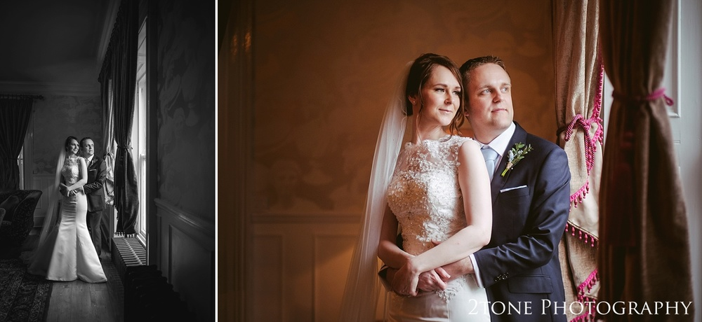 Classic wedding portraiture at Woodhill Hall.  Wedding photography in Northumberland by www.2tonephotography.co.uk