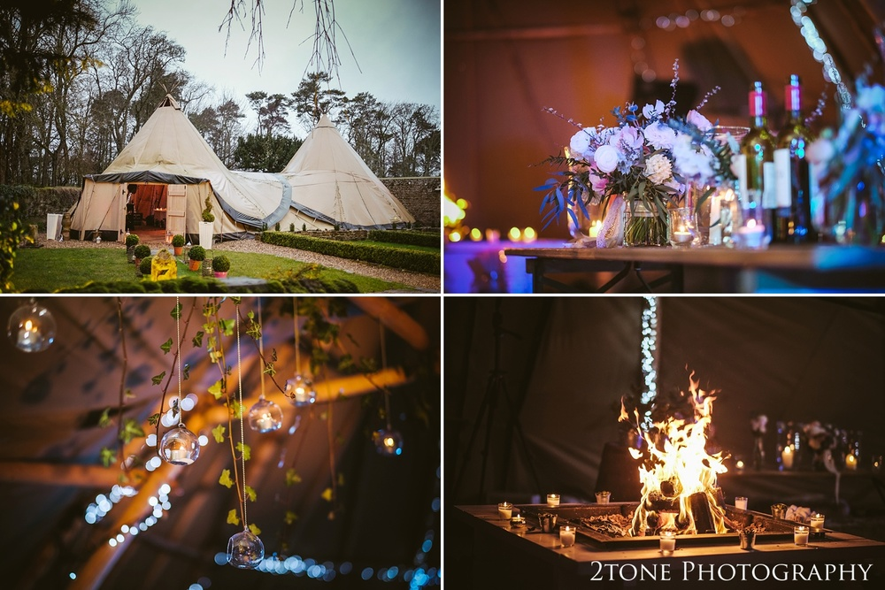 The tipi at Woodhill Hall.  Wedding photography in Northumberland by www.2tonephotography.co.uk