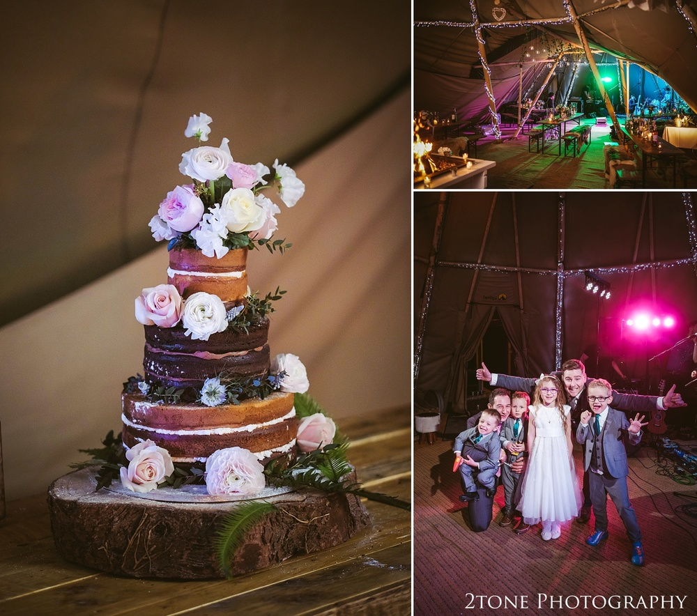 Naked wedding cake at Woodhill Hall.  Wedding photography in Northumberland by www.2tonephotography.co.uk