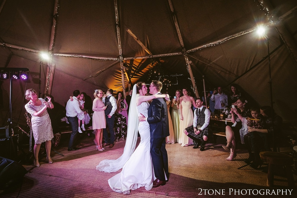 The bride and groom's first dance at Woodhill Hall.  Wedding photography in Northumberland by www.2tonephotography.co.uk