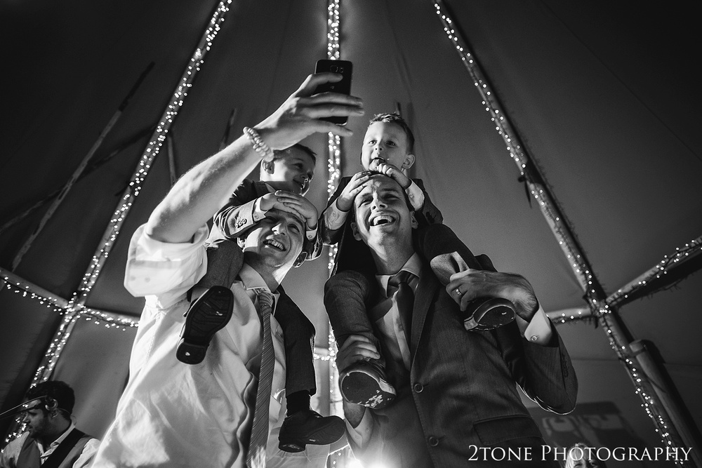 Wedding selfie at Woodhill Hall.  Wedding photography in Northumberland by www.2tonephotography.co.uk