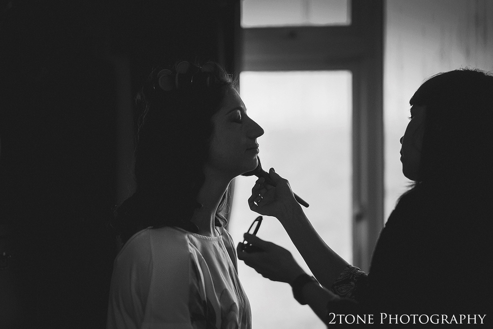 Bridal preparations.  wedding photography by husband and wife team 2tone Photography ww.2tonephotography.co.uk