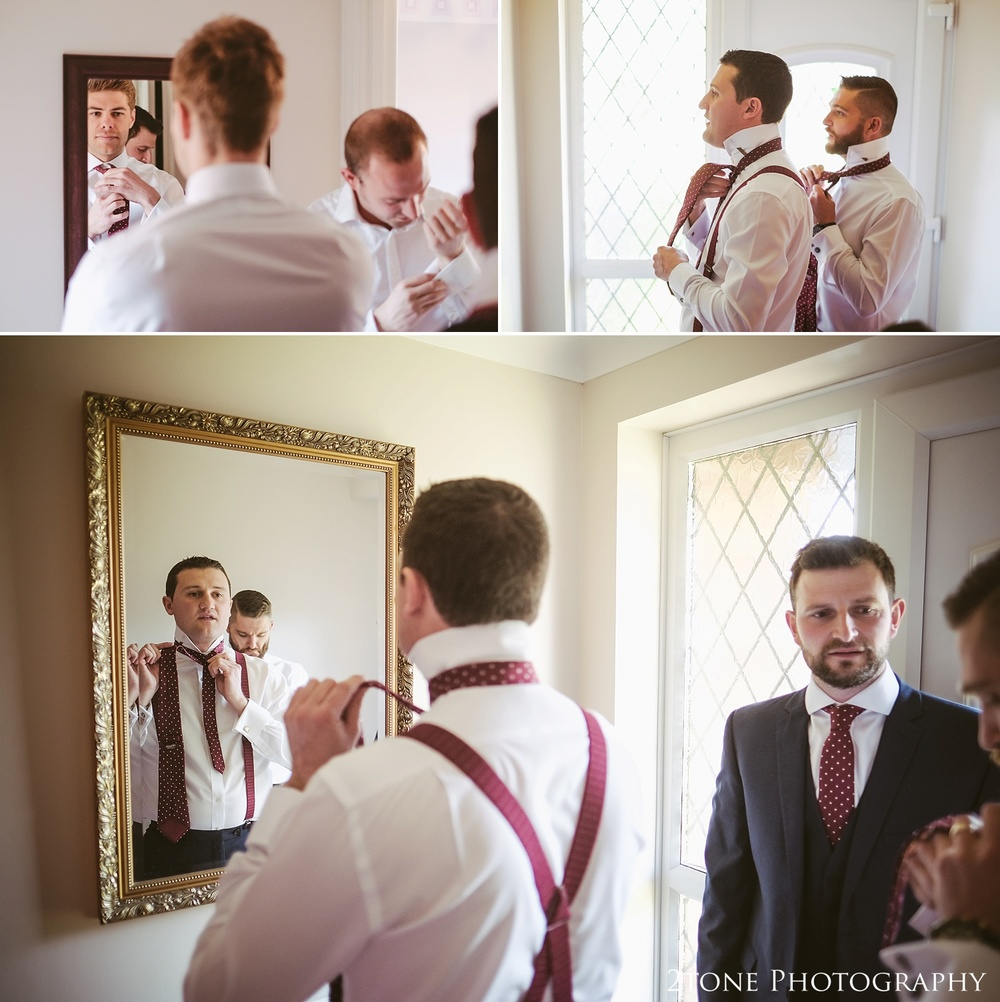 Groom getting ready.  Wedding photography in Somerset by husband and wife team 2tone Photography ww.2tonephotography.co.uk