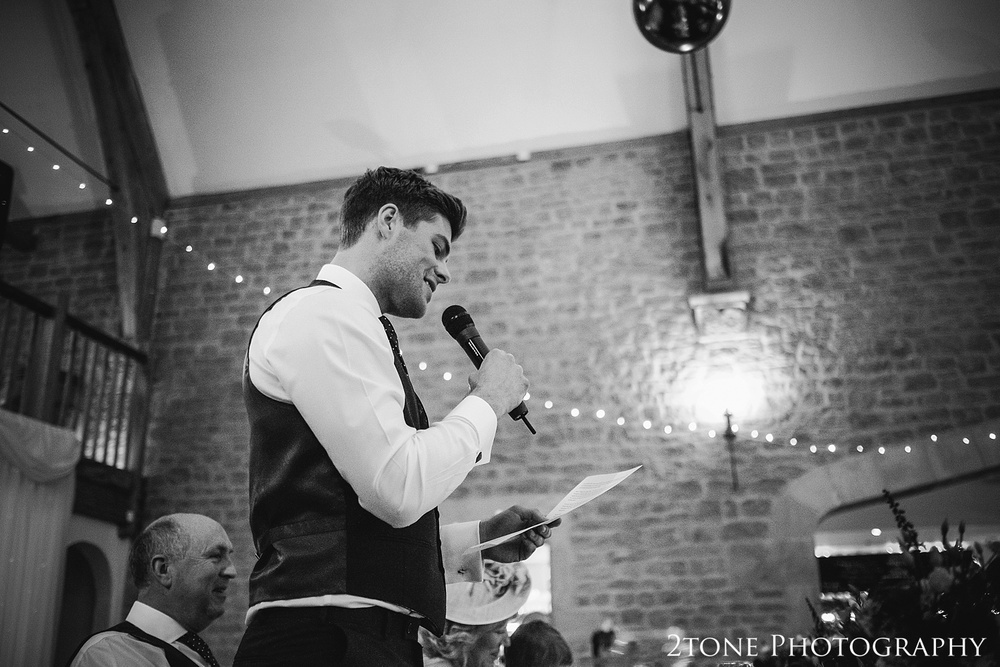 The best man's speech at Haselbury Mill and the Old Tythe Barn in Somerset by www.2tonephotography.co.uk