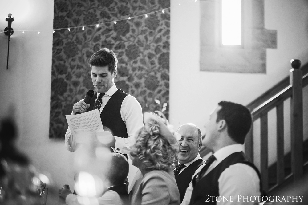 The best man's wedding speech at Haselbury Mill and the Old Tythe Barn in Somerset by www.2tonephotography.co.uk