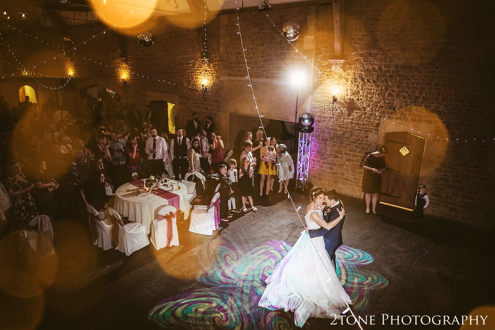 The first dance at Haselbury Mill and the Old Tythe Barn in Somerset by www.2tonephotography.co.uk