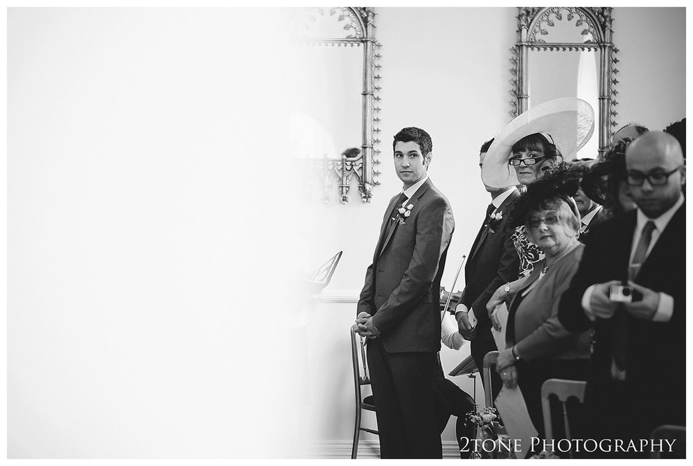 A reading Room ceremony.  Eshott Hall wedding photographs by wedding photographers based in Durham and the North East.  www.2tonephotography.co.uk.