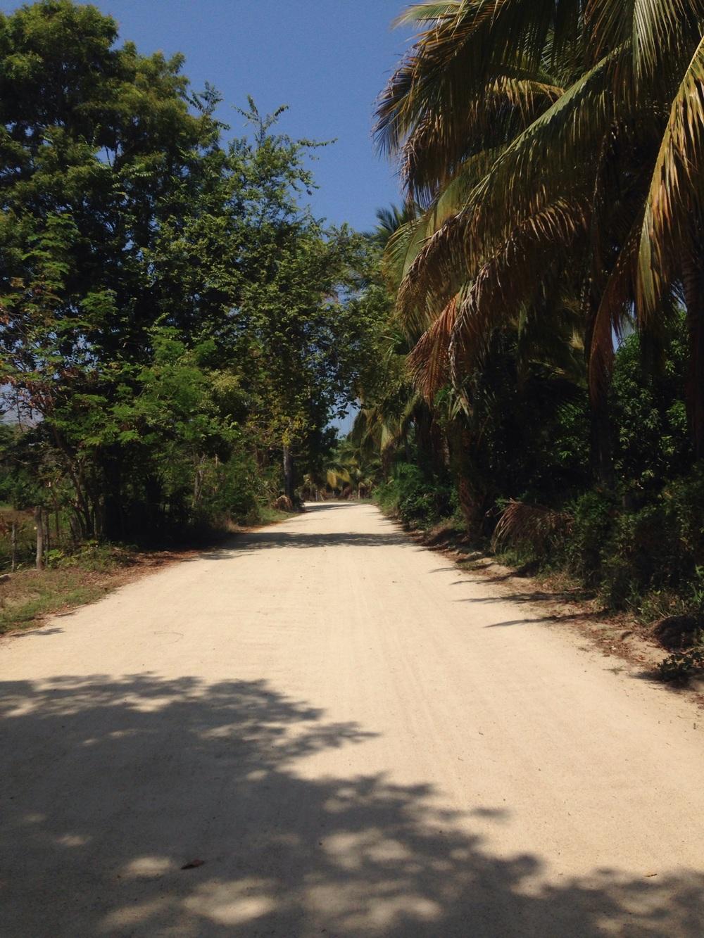 Dirt roads....finally