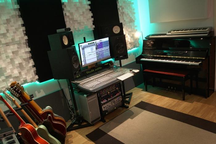 Kawai upright piano recording studio