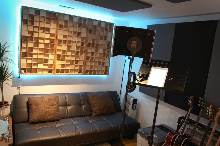 Small recording live room studio