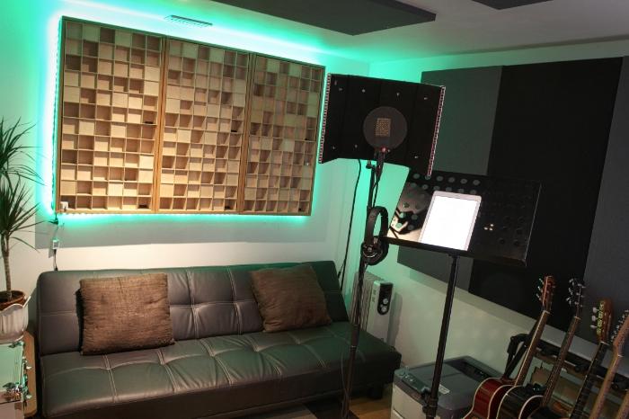 Singing recording studio