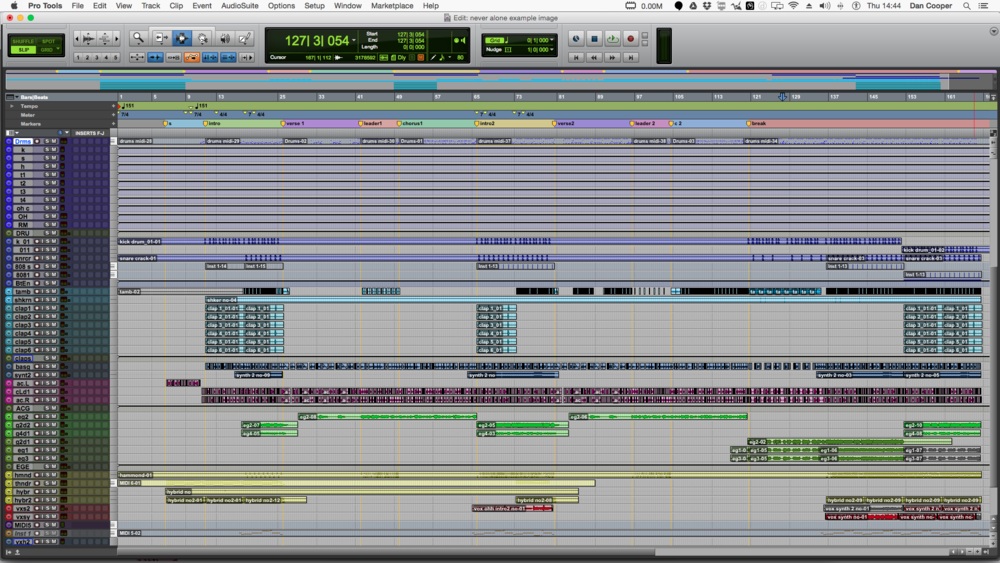 mixing session window