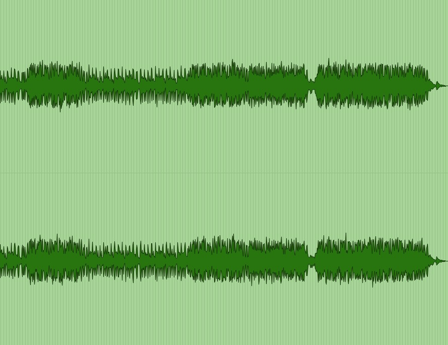 Please forward your audio with headroom and dynamic range, mixes that look like this waveform.