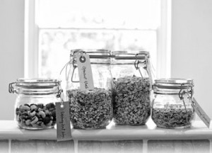 nut jars nibbles for the office