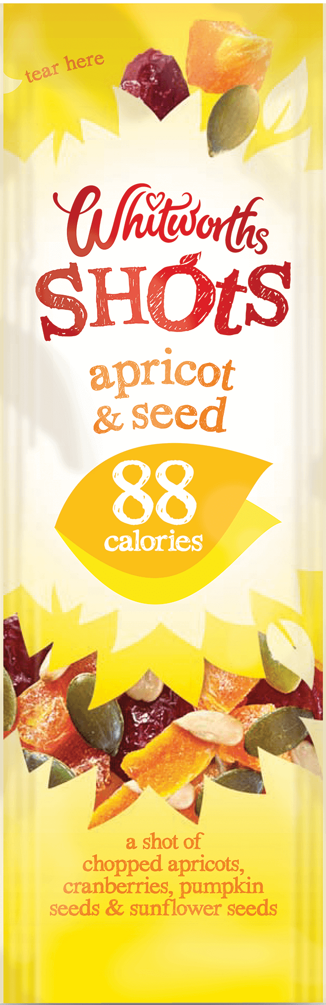 Whitworths Shots - Apricot & Seed (88 Calories)