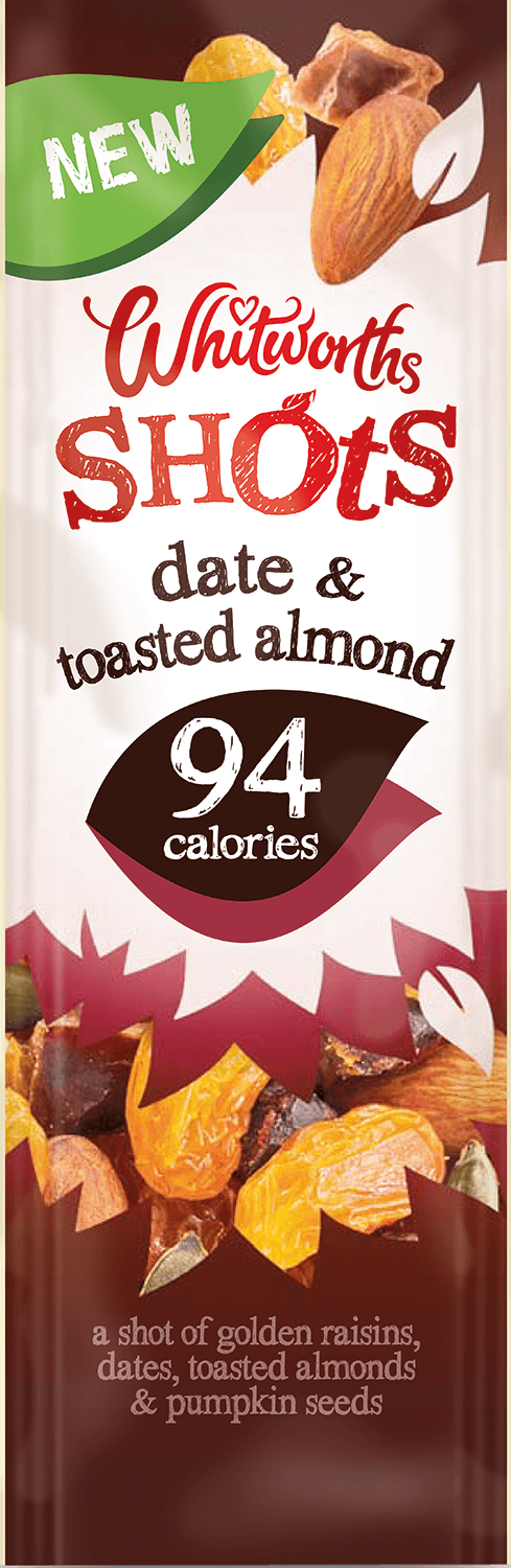 Whitworths Shots - Date & Toasted Almond (94 calories)