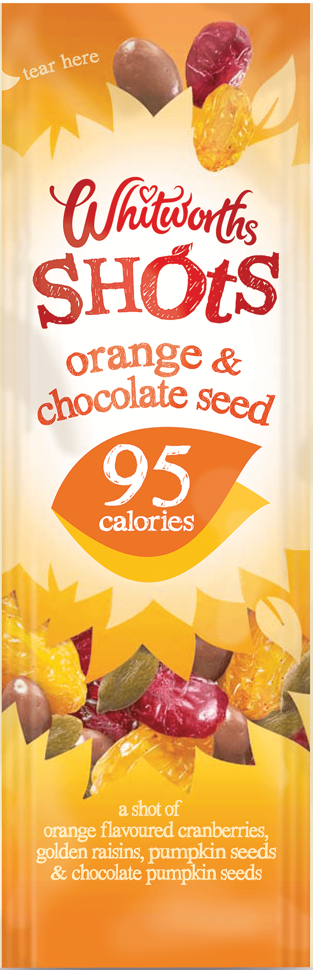 Whitworths Shots - Orange & Chocolate Seed (95 calories)