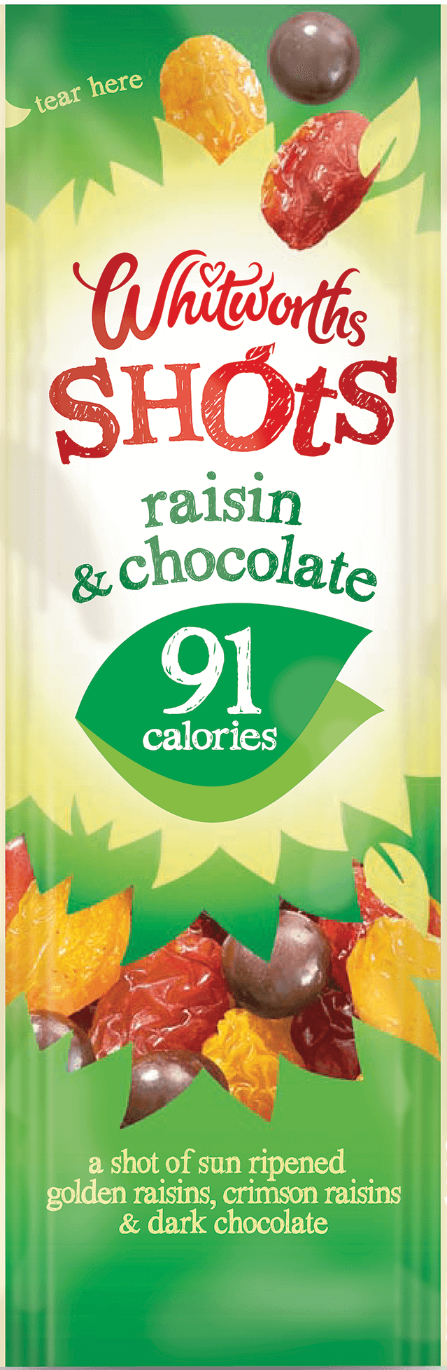 Whitworths Shots - Raisin & Chocolate (91 calories)