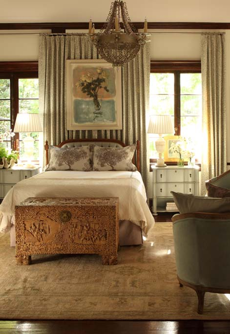 In my room at the 2014 Atlanta Symphony Showhouse, I used a tranquil palette of pale blue, blush, and lavender for a young lady's retreat.