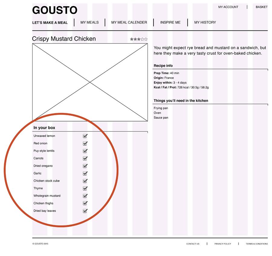 Wireframe 1 Gousto