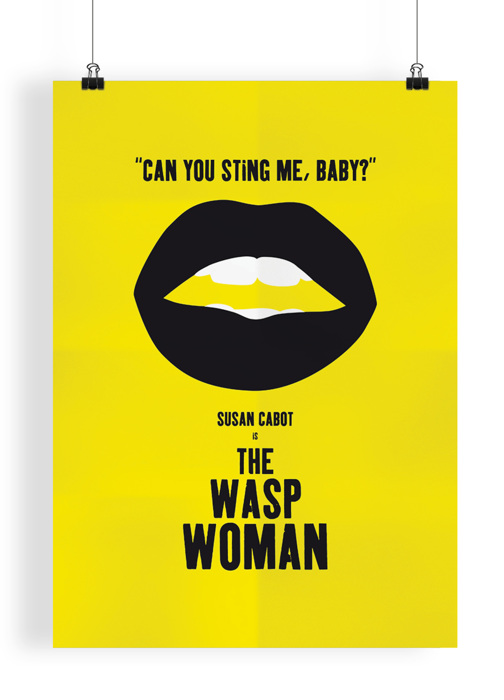 The Wasp Woman   Movie poster based on the 1956 B-movie 'The Wasp Woman'. Inspired by the Polish film posters of the 60s, 70s and 80s where the artist would not have seen the film and just have to work from a brief synopsis of the film.