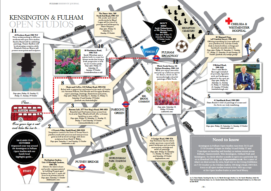 Map courtesy of  Fulham Residents' Journal  (click to enlarge)