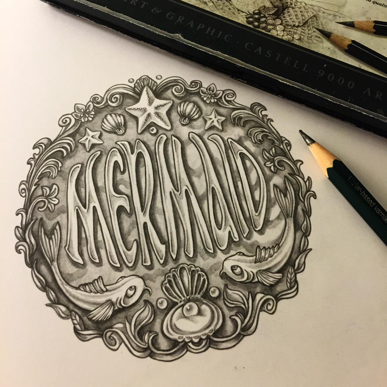 'Mermaid' button design.