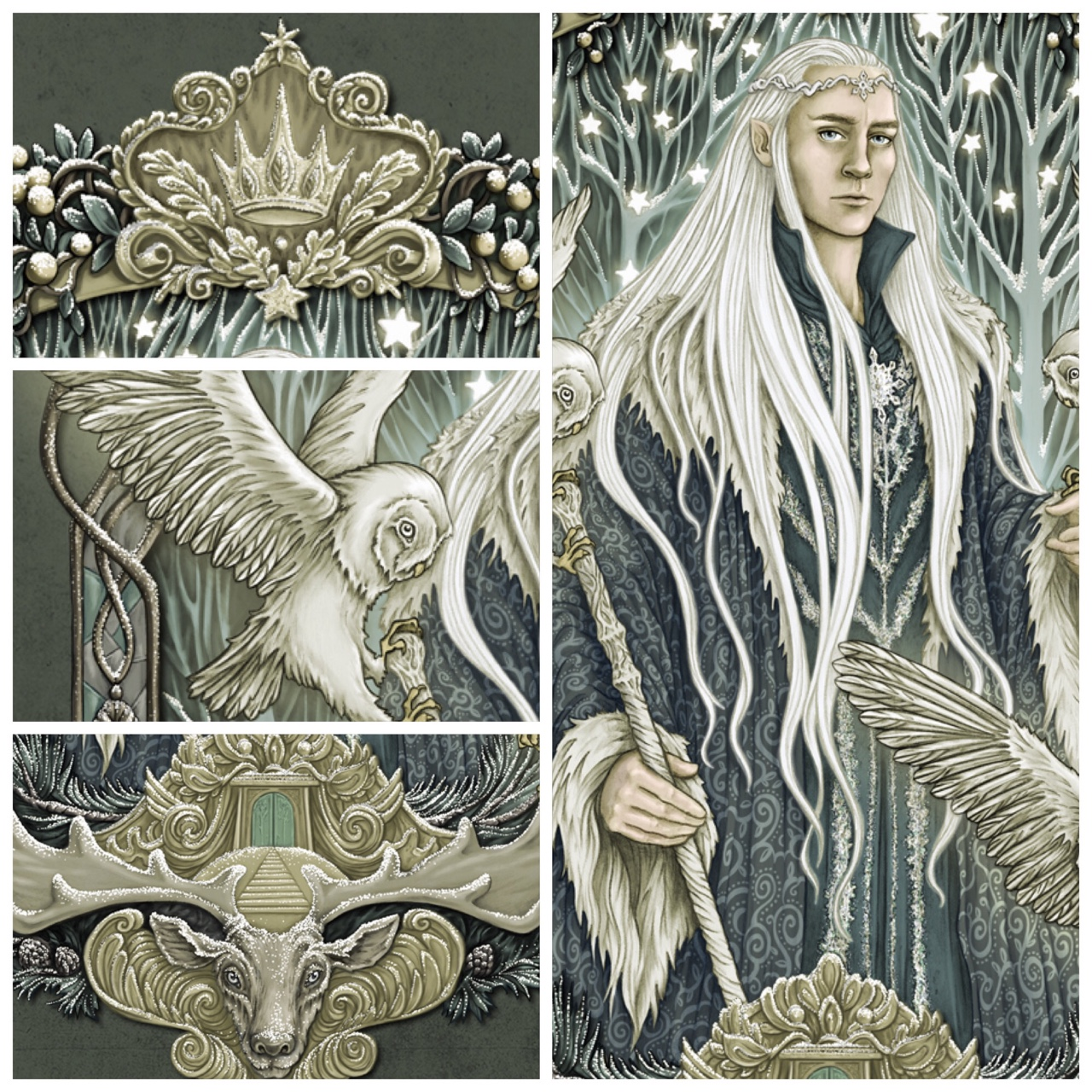 I'm doing a giveaway of this Thranduil print on Instagram. My account name on Instagram is  eevanikunen  =o)