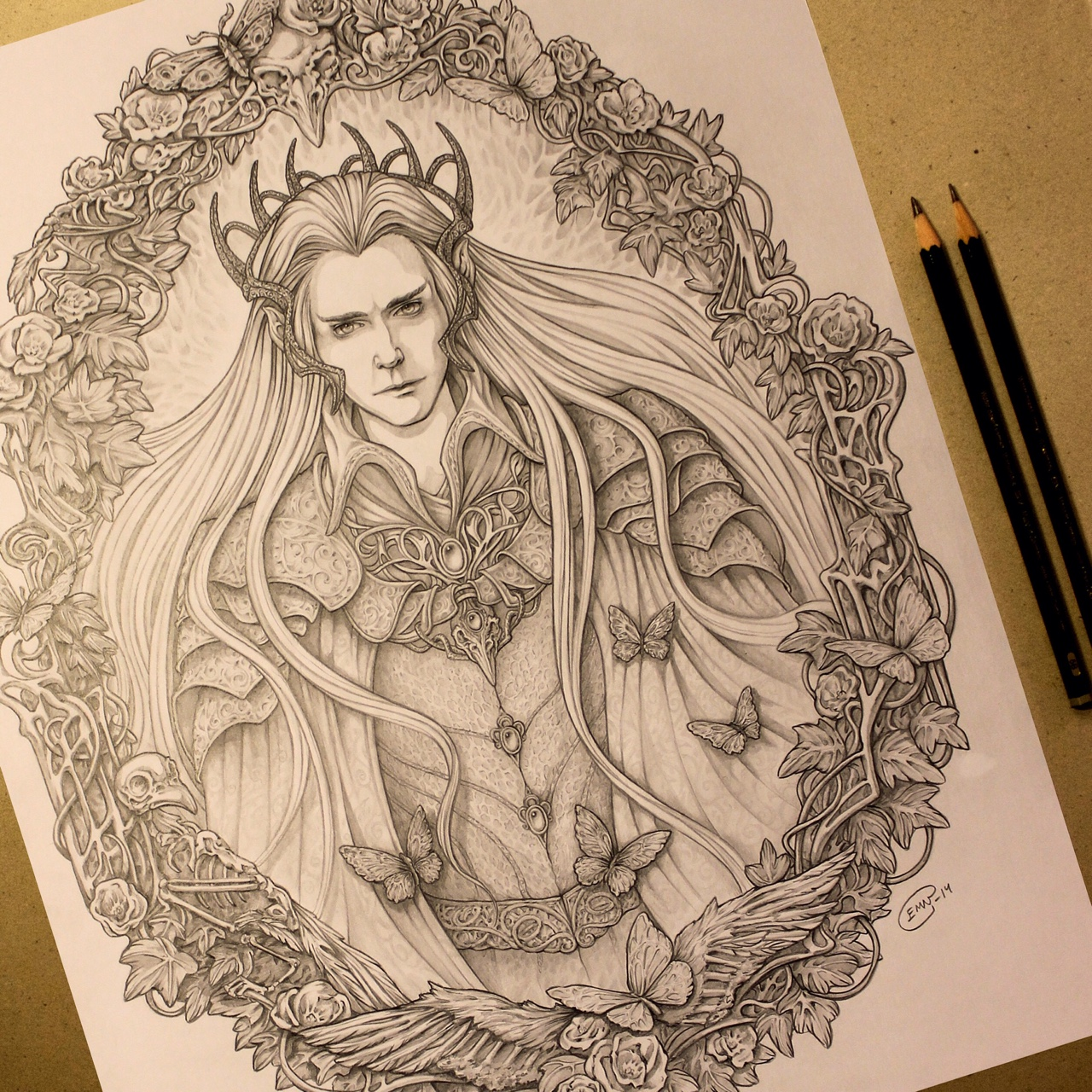 I loved the new #BOTFA trailer! I made this Thranduil fan art to celebrate. :)